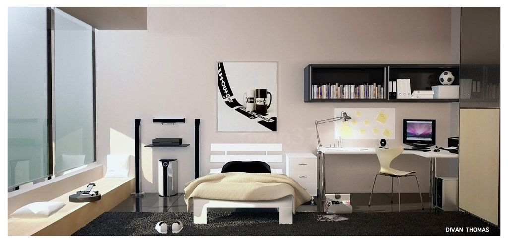Bedrooms Simple Modern Bedroom Design For Teenage By Divan Thomas Cool  Teenage Girl Rooms Interior Decor   Decorstate