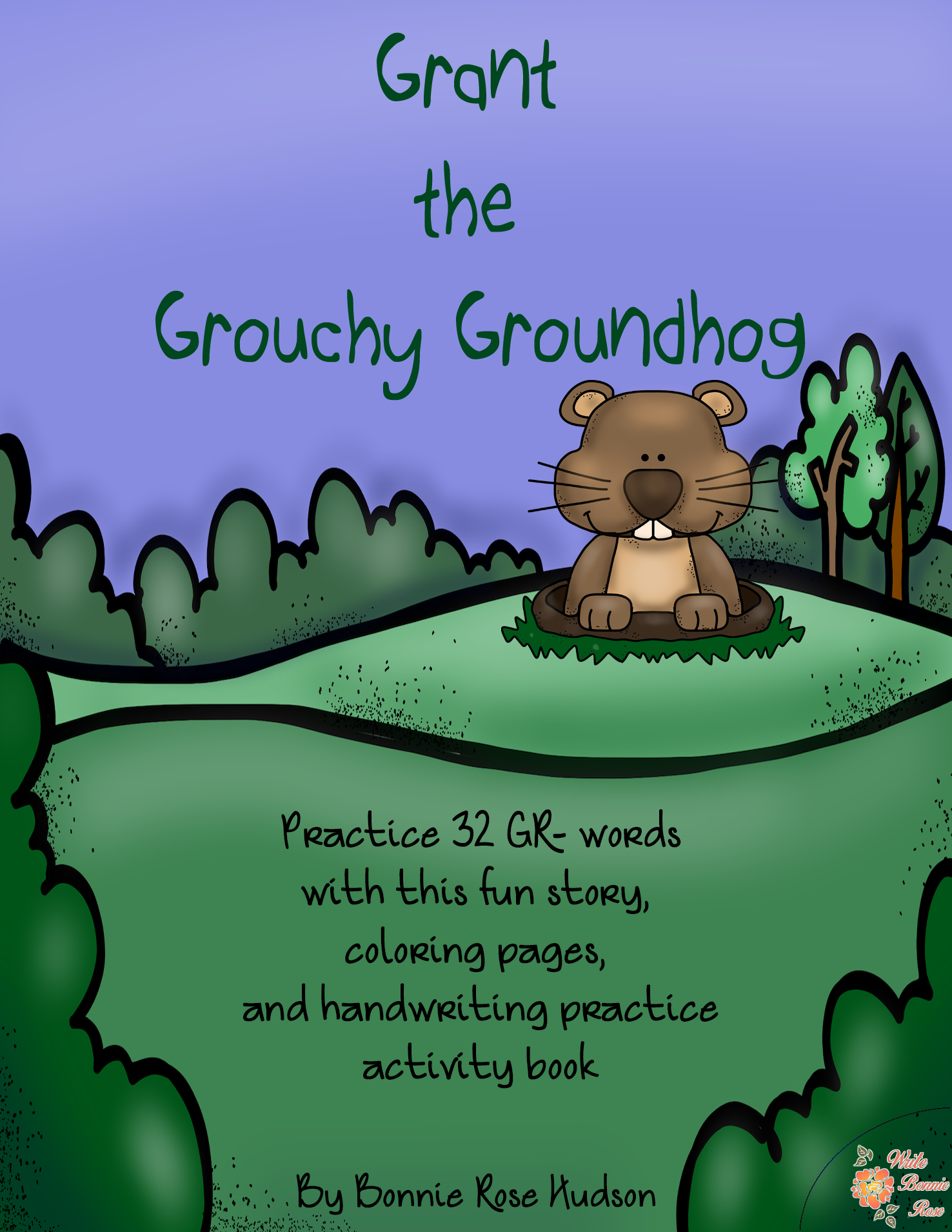 Grant The Grouchy Groundhog Consonant Blend Practice