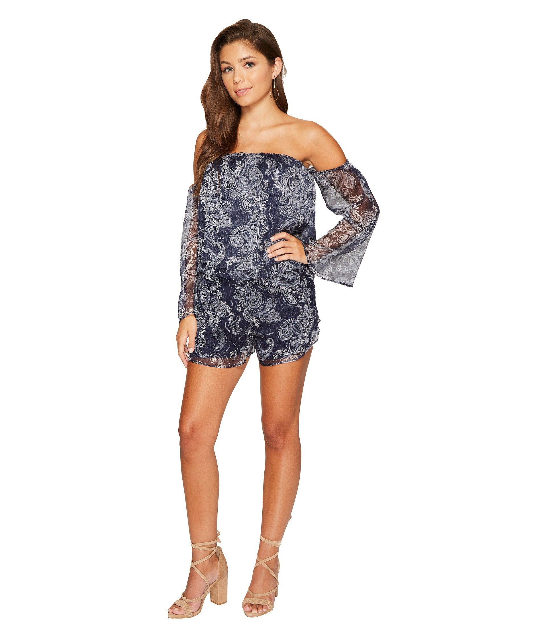 15c6a5a4e8 THE JETSET DIARIES Midnight Paisley Romper.  thejetsetdiaries  cloth ...