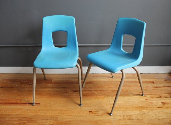 Child S Aqua School Chair Four Available On Etsy 45 00 School Chairs Chair Cabin Living