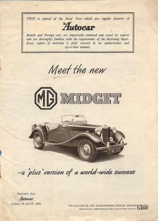 The MG Midget | Mg midget, Car ads, Midget