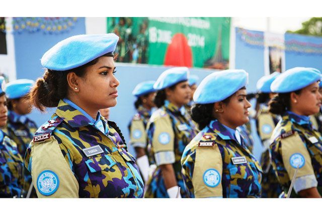 Meet One Of The World's Only All-Women Peacekeeping Units #refinery29  http://www.refinery29.com/2015/09/93990/bangladesh-film-maker-all-women-haiti-peacekeepers