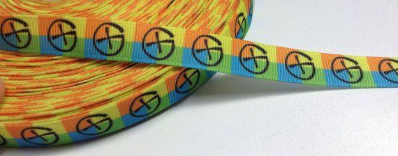 4 Yards of Geocaching 1/2 grosgrain ribbon by ribbonguru on Etsy