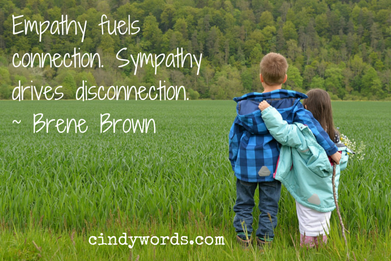 001 Empathy Fuels Connection. Sympathy drives disconnection