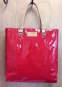 Kate Spade Wellesley Tote Red Patent Leather Beach School Or Diaper Bag Mrp 428 Ebay