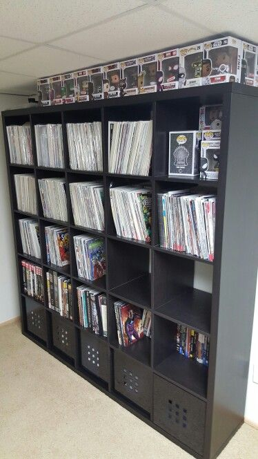 Ikea Kallax shelf with Comics and Pops. #phase1 | Indoor Theatre ...