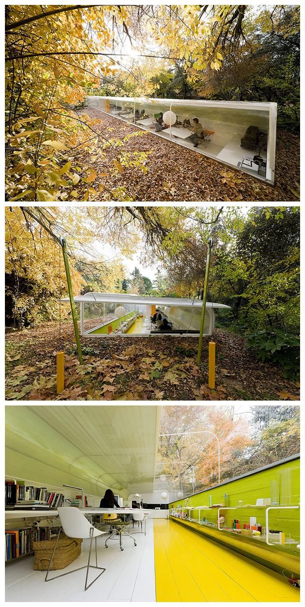 selgas cano architecture office. An Office In The Forest | Designed By Selgas Cano Architecture #modernofficearchitecture #office