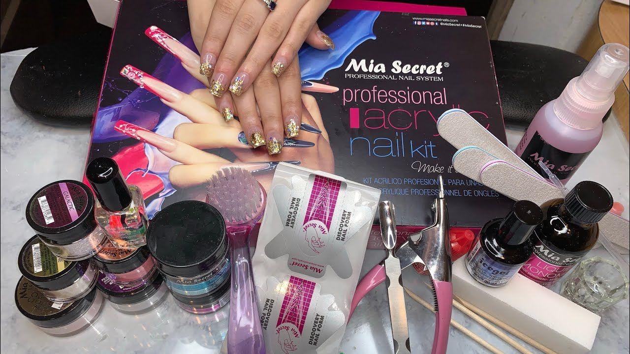 Acrylic Nails Kit For Beginner Mia Secret Kit Supplies Needed To Do Nails Youtube Acrylic Nail Kit Acrylic Nail Supplies Diy Acrylic Nails Kit
