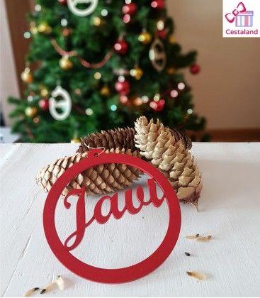 4925335bd51b8 Decoración navideña. Bola Navidad Personalizada Nombres Madera. Decoración  navideña. Hacemos bolas navideñas con nombre en madera. Elige color  rojo