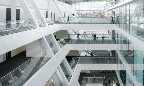 Building Design Of Holland Park School London Central Atrium