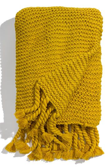 Nordstrom Chunky Knit Throw Nordstrom Knitted Throws Chunky Knit Throw Yellow Blankets