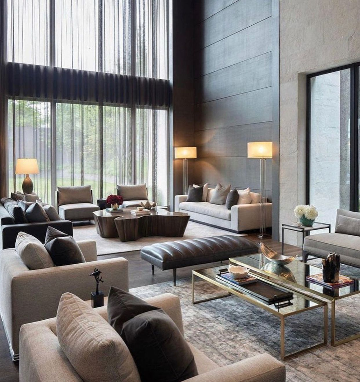 Design and layout for a big living room in 2020   Elegant ...