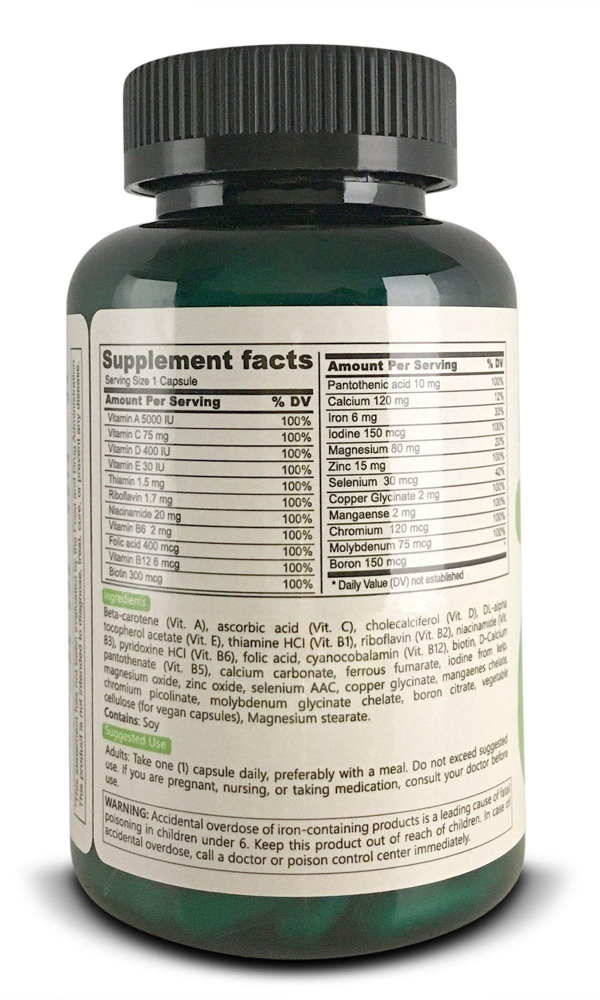 Althymin Multivitamin Multimineral Supplement 180 Vegan Capsules Kosher  Vegetarian Friendly Gluten Wheat Dairy and Sugar Free