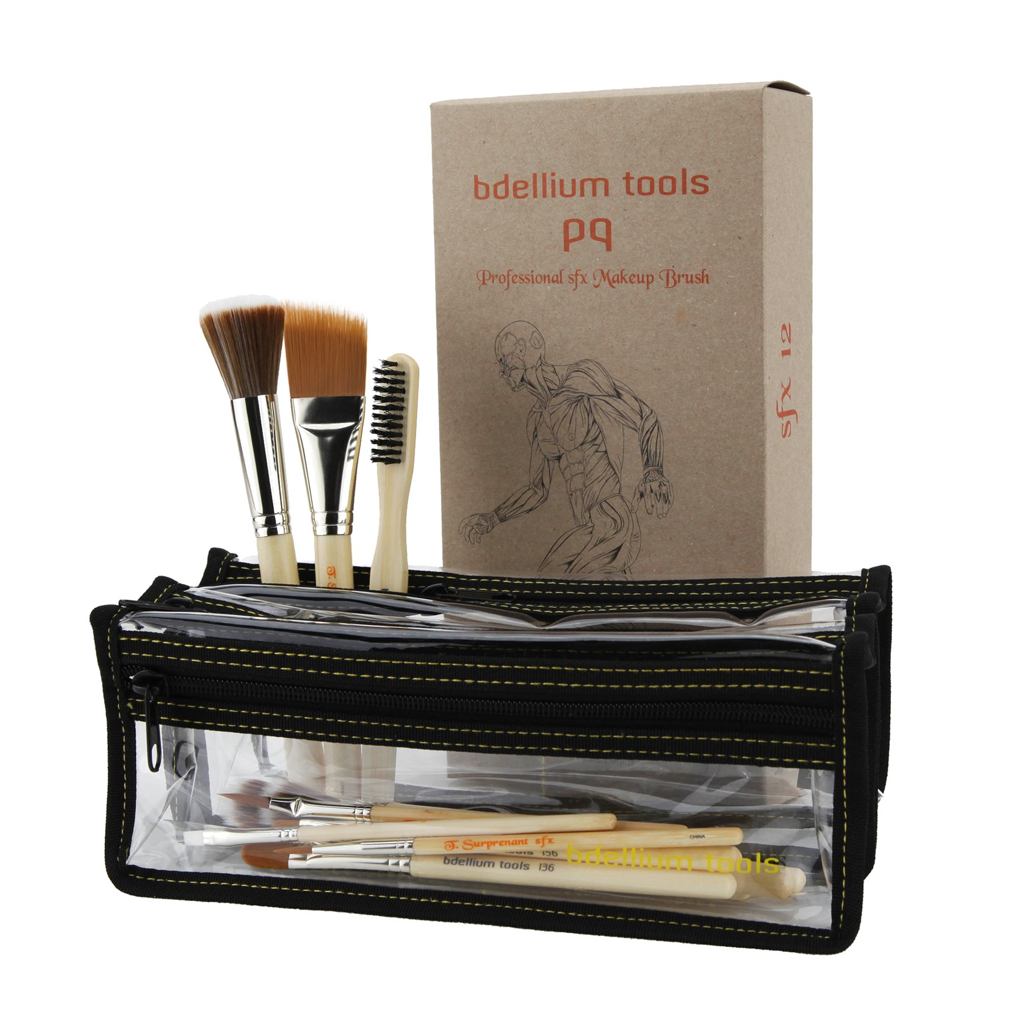 SFX 12pc. Brush Set I (1st Collection) w/ Double pouch
