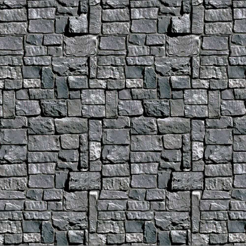 HALLOWEEN Medieval Party Decoration Dungeon STONE WALL Mural ...