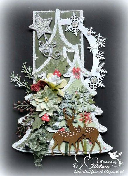 Beautiful Christmas design! Christmas cards Pinterest Cards