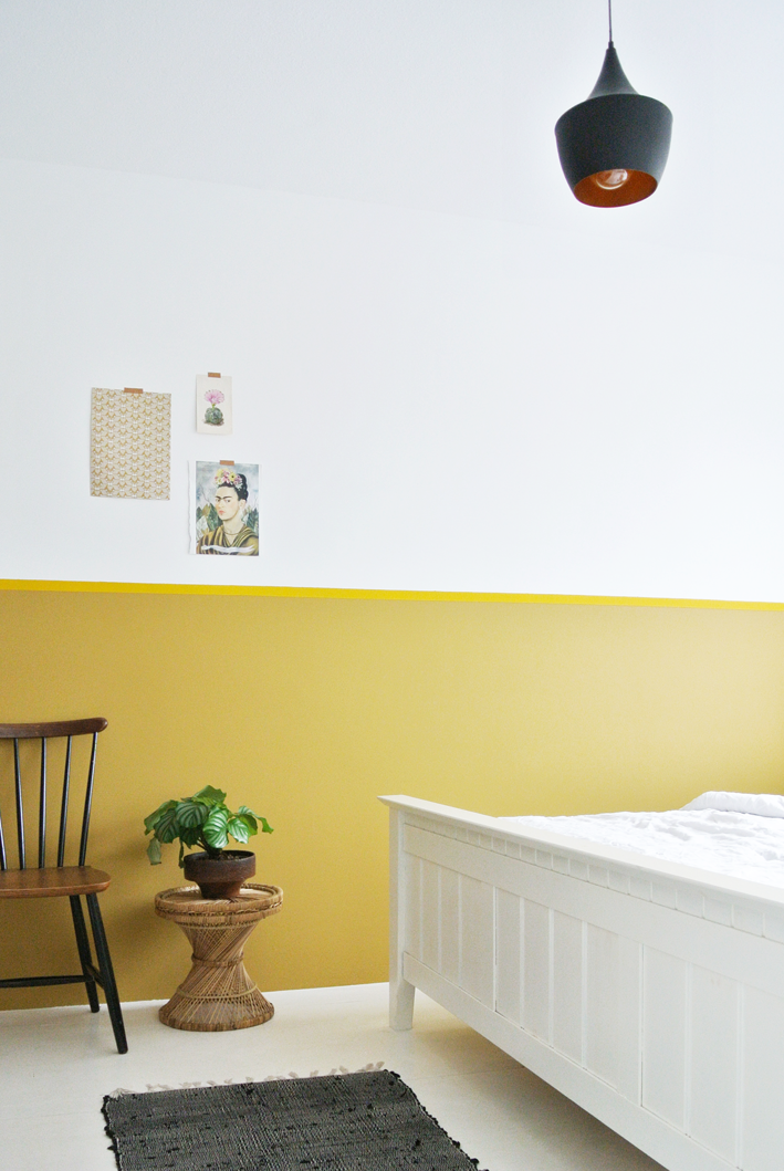 Colour Of The Year Ochre Gold Enter My Attic Half Painted Walls Room Decor Room Colors