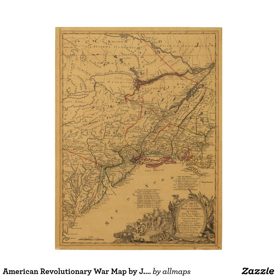American Revolutionary War Map By J B Eliot Wood