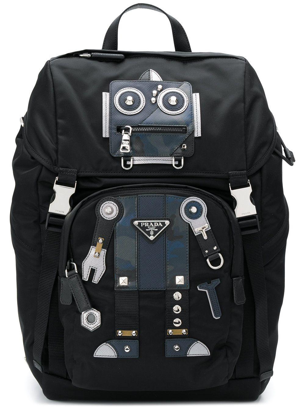 7fe37ba6069a PRADA BLACK. #prada #bags #backpacks # | Prada Men | Prada backpack ...