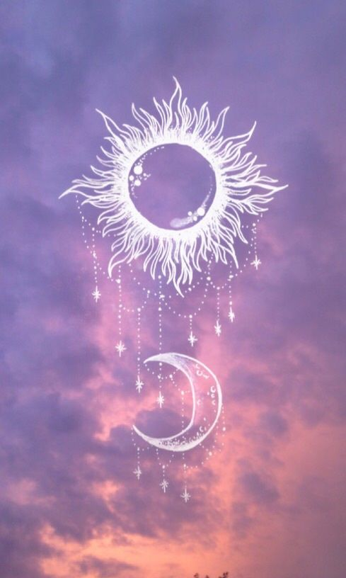 Moon Sun And Stars Image Wiccan Wallpaper Witchy Wallpaper Witch Wallpaper