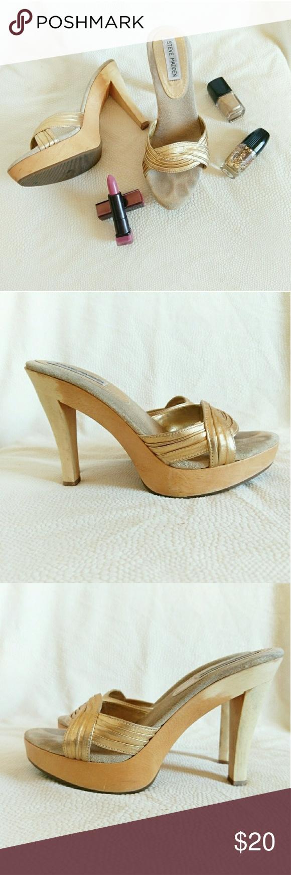 c1d8ebdaa26 Steve Madden wooden heel sandals *Price Negotiable *No Offers Cute ...