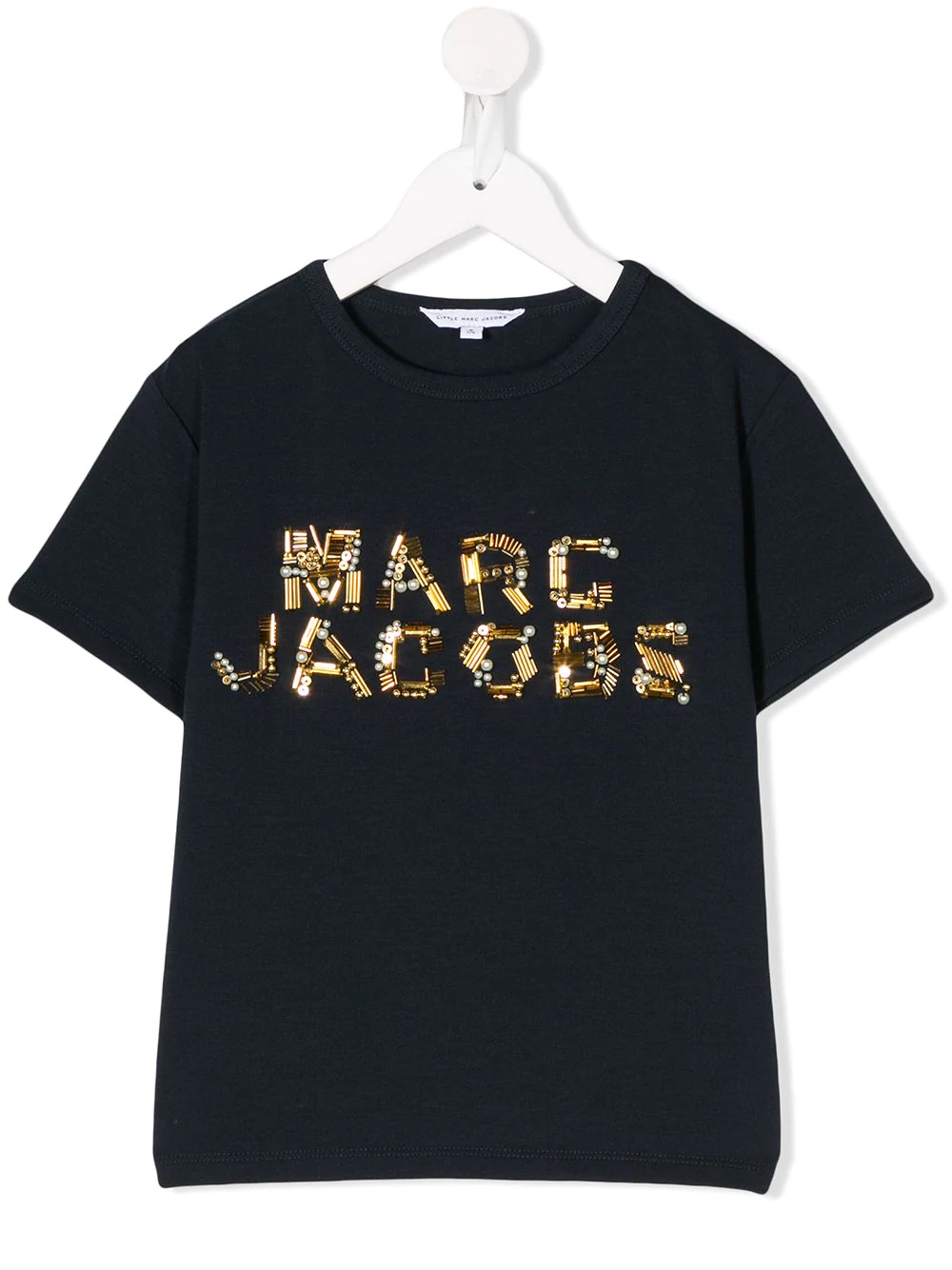 Shop Blue The Marc Jacobs Kids Logo Embellished T Shirt With Express Delivery Farfetch In 2021 Marc Jacobs Logo Little Marc Jacobs Kids Logo