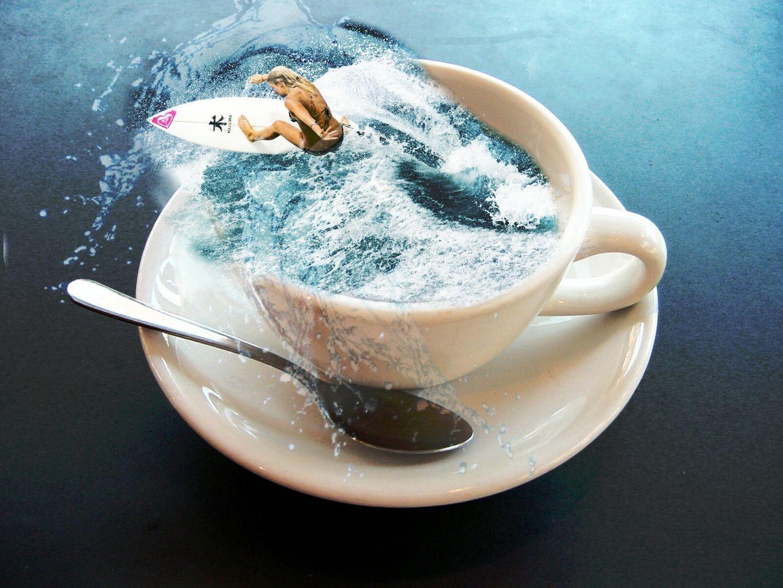 Океан в чашке кофе картинки