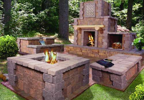Northern Lights Patio At Menards Stone Fire Pit Fire Pit Outdoor Living Kits