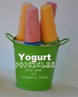 Mango Peach & Strawberry Banana Yogurt Popsicles