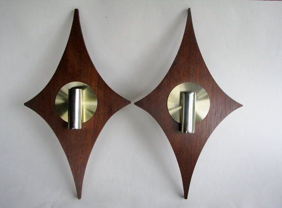 Mid Century Modern Wall Sconce Candle Holders Midcentury Modern