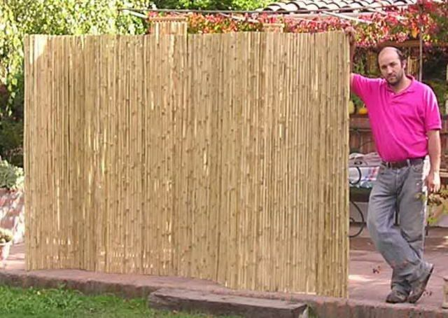 Privacy Fence Ideas Bamboo Fencing Rolls 300x212