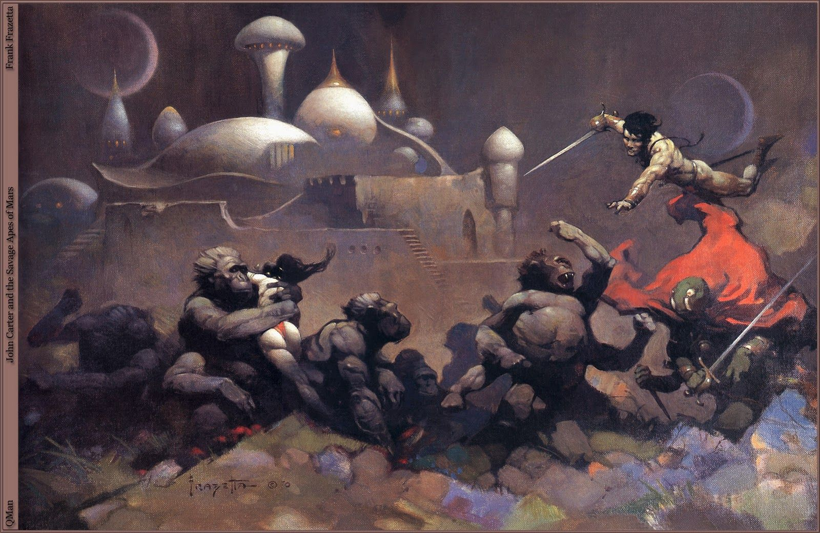 ...  if you were born in the 1960's, John Carter of Mars probably remember you more the great paintings of heroic fantasy master painter Frank Frazetta, like these below and on the top. Description from disneyandmore.blogspot.com. I searched for this on bing.com/images