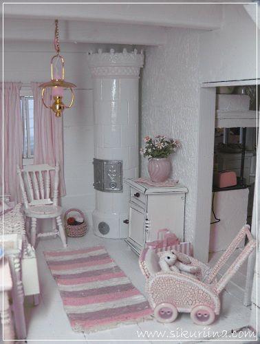Linnanneidon lokikirja: Kesämökin olkkari - Cottage style living room