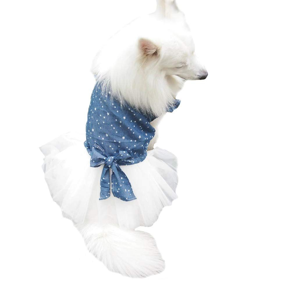 DroolingDog Dog Rainbow T Shirt Love Vest Puppy Tshirts For Small Dogs White Small