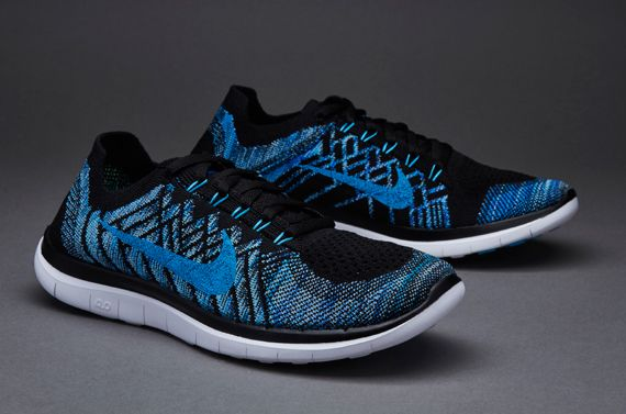 nike flyknit 4.0 black and blue