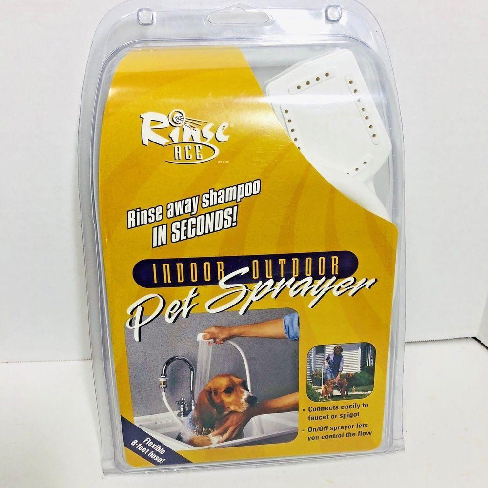 Rinse Ace Indoor Outdoor Pet Sprayer With 8 Foot Flexible