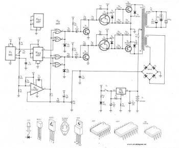 310 V DC to 220V AC Converter circuit Electronics t