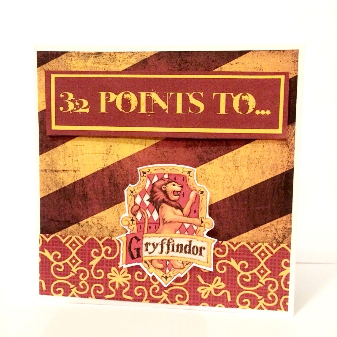 harry potter gryffindor birthday card age  birthday