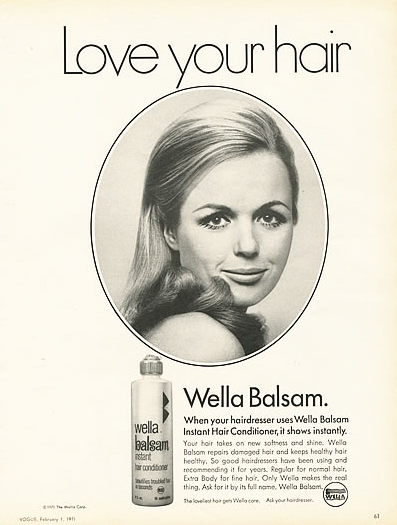1971 wella balsam instant hair conditioner love your hair ad