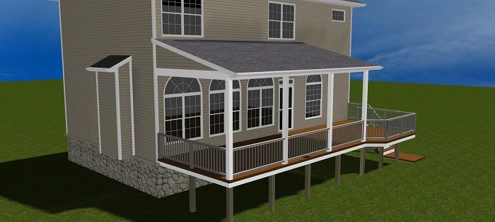 Deck Designs With Shed Roof Sneek Peak At An