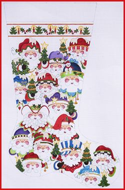 welcome to strictly christmas needlepoint designs full sized stockings cs 343 - Strictly Christmas Needlepoint
