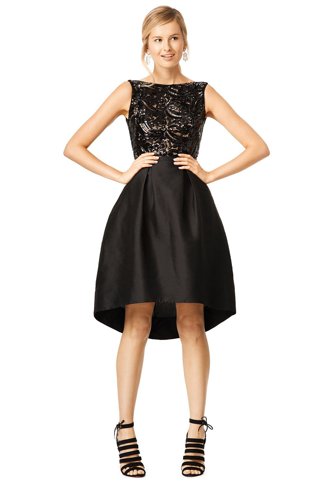 LBD (has pockets!) Rent Back Down Dress by ML Monique Lhuillier for ...