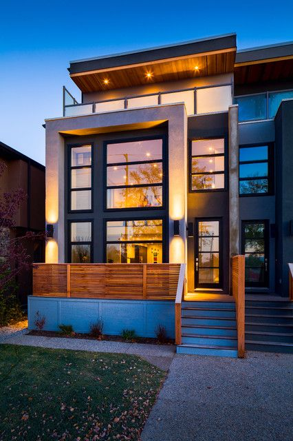 Modern homes calgary alberta google search exterior for Infill home plans