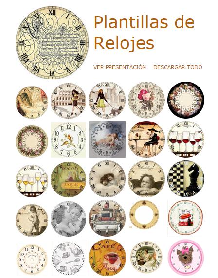 Plantillas para hacer Relojes de Pared | relojes | Pinterest
