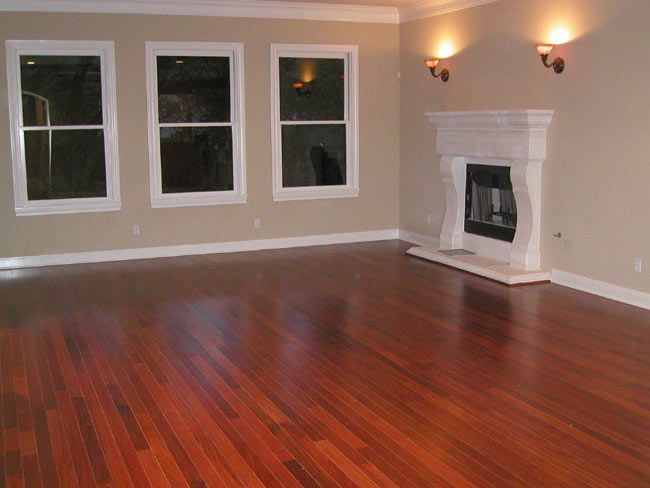 cherry flooring for the basement in kitchen