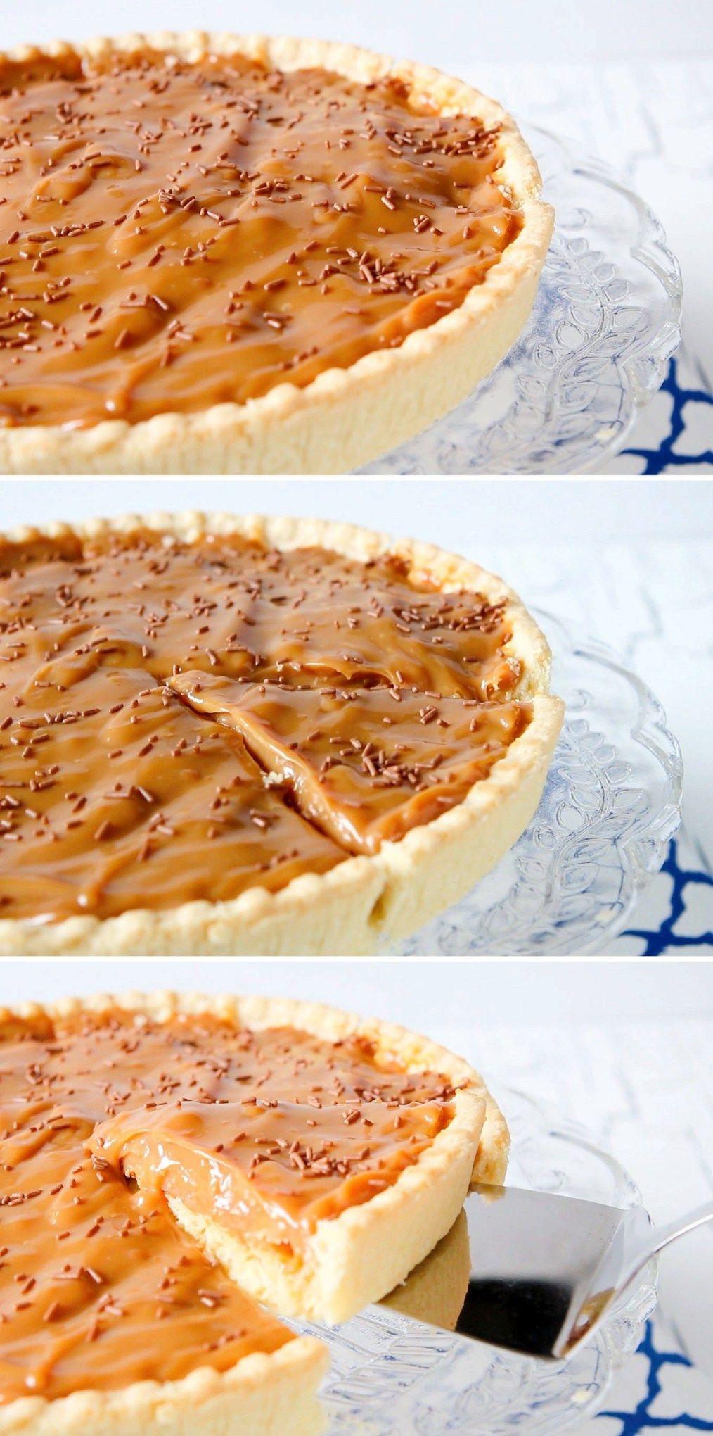 2 3 Ingredient Caramel Tart Recipe Caramel Tart Recipe Tart Recipes Caramel Tart