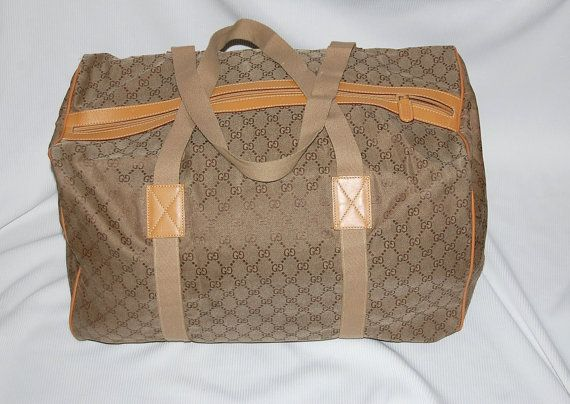 1afb86fde9b803 GUCCI italy leather & Jacquard collapsible travel carry by dna714, $299.00