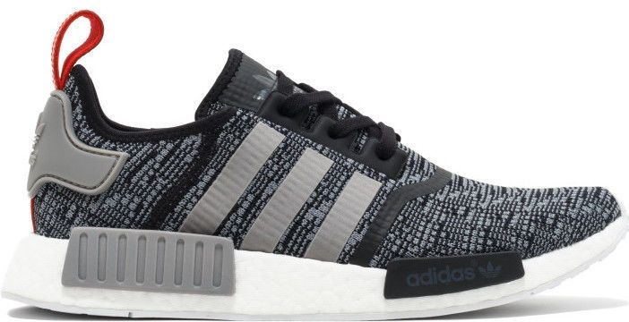 sports shoes fe6ae 0bd73 ... shop adidas nmd r1 core black grey red glitch camo pack originals nomad  runner bb2884 acccd