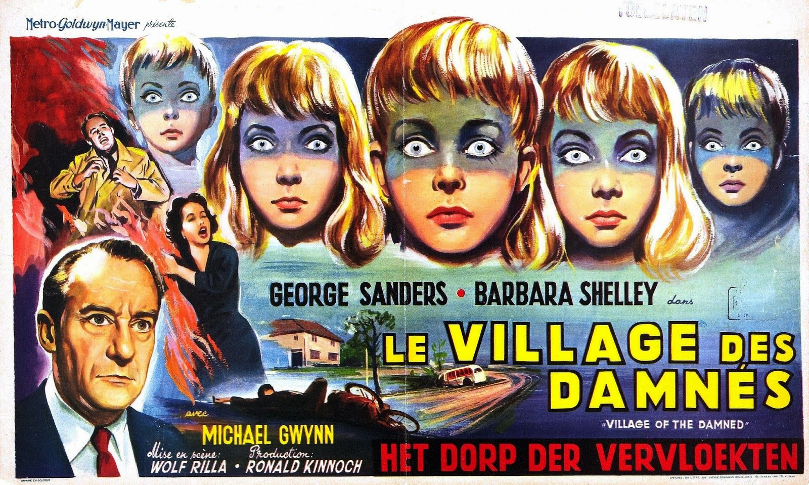 Village of the Damned (1960), large via Belgium Horror