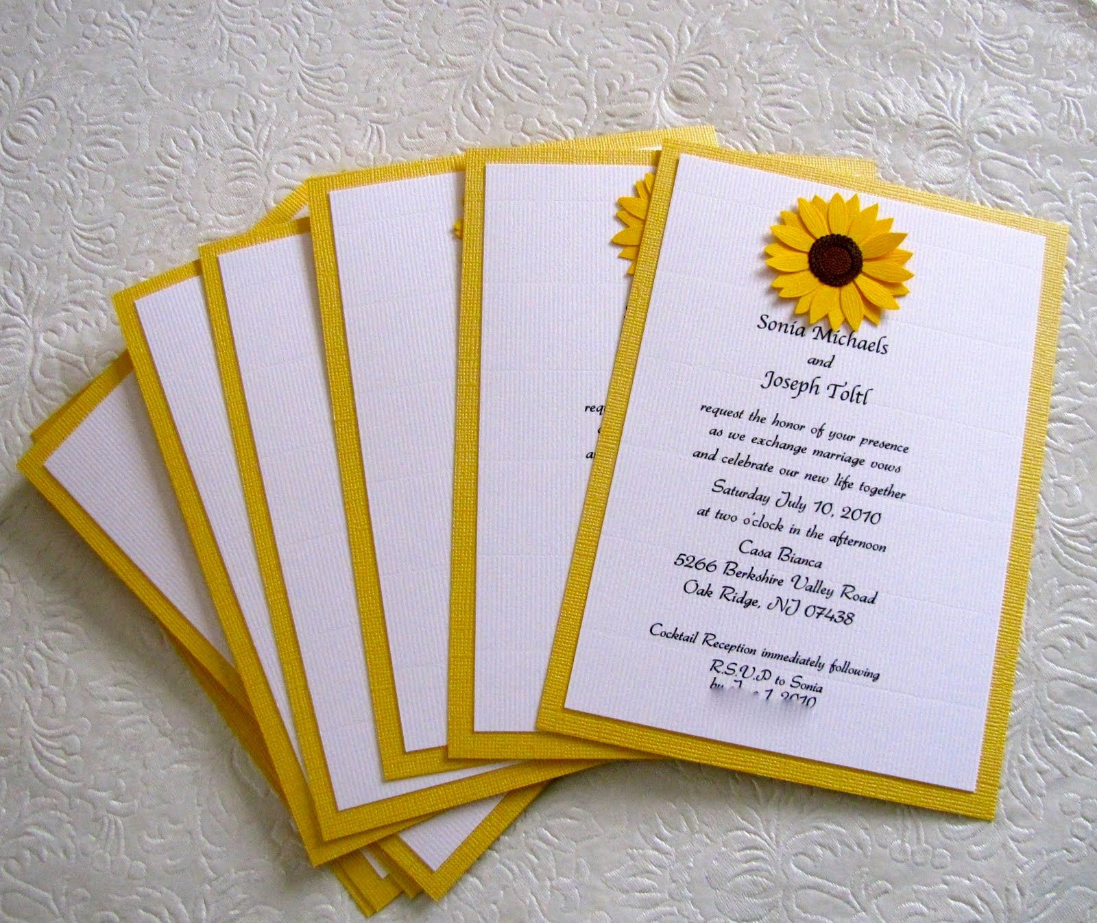 sunflower invitations so i designed wedding invitations with a